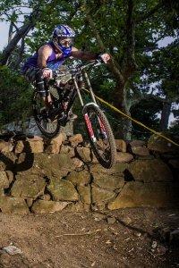 Radfahren auf den Bergen